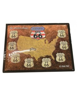 Historic US 66 reclamebord