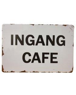 Ingang cafe reclamebord