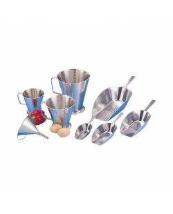 Maatbeker, RVS, 0,5-2 liter