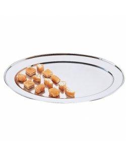 Ovale RVS serveerschaal 20-66cm