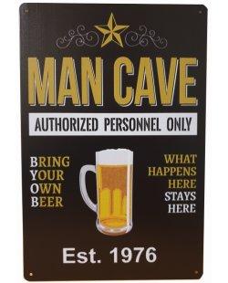 Man Cave est 1976 reclamebord