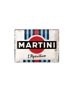 Martini reclamebord relief 30x40 cm