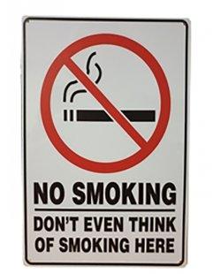 No smoking reclamebord