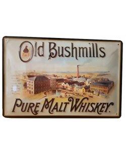 Old Bushmills reclamebord