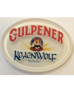 Occasion- Ovale taplens Gulpener korenwolf plat