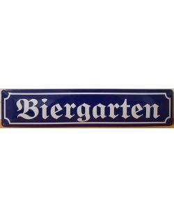 Biergarten reclamebord