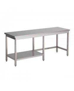 RVS Werktafel met half bodemschap 800 diep