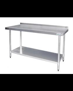 RVS Werktafel met achteropstand - demontabel