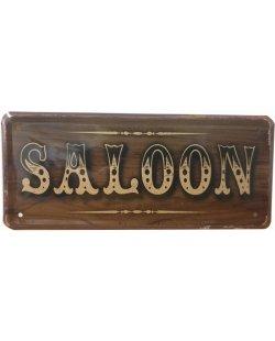 Saloon reclamebord relief