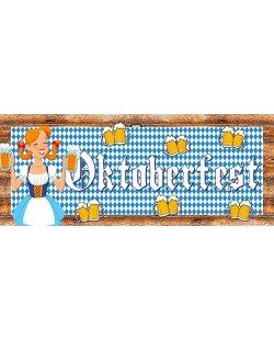 Spandoek geschikt voor voorzetbuffet - Oktoberfest motief