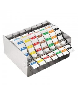 Kleurcode RVS stickerdispenser