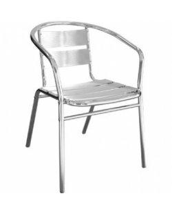 Stapelbare aluminium terrasstoel (per 4)