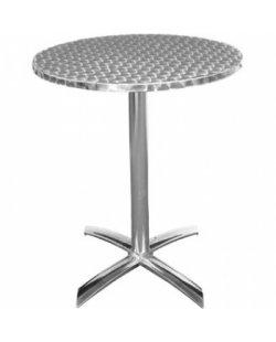 RVS ronde tafel inklapbaar