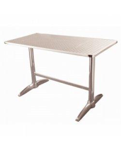 RVS tafel 120 x 60 cm