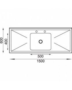 RVS Spoeltafel 1500x600x900