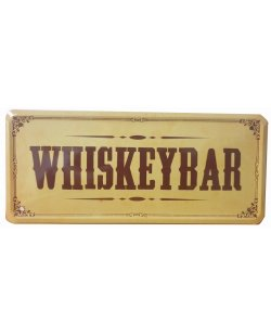 Whiskey bar reclamebord relief
