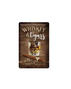 Whiskey & Cigars reclamebord relief