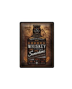 Whiskey sunshine reclamebord relief