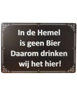 In de hemel geen bier reclamebord