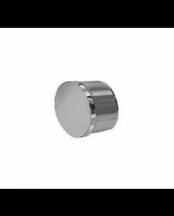 Buisdop plat RVS 40 mm