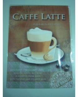 Caffe Latte metalen reclamebord