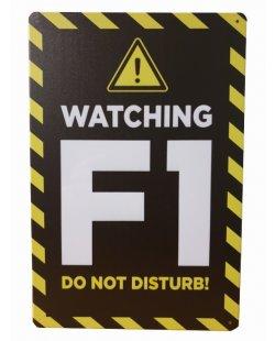 Watching F1 reclamebord