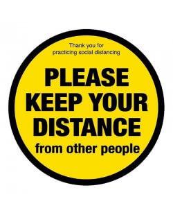 Social distancing vloersticker 'Please keep your distance'