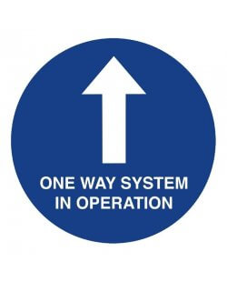 Social distancing vloersticker 'One Way System'
