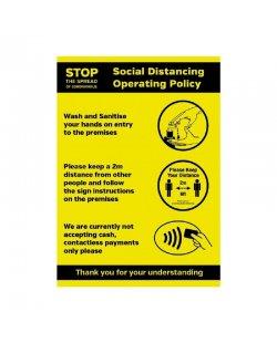 Beleidsposter social distancing A4