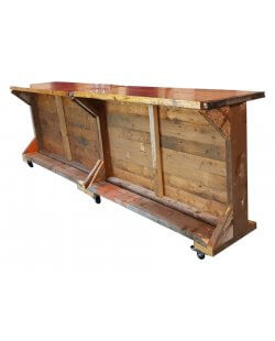 Mobiele houten voorzetbar