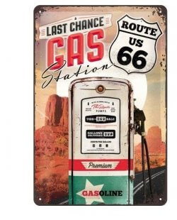 Route 66 Gas Station reclamebord