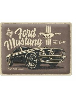 Ford mustang reclamebord