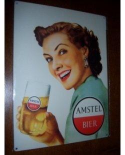 Amstel metalen pubbord