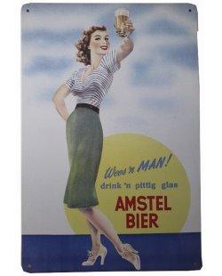 Wees een man Amstel bier reclamebord