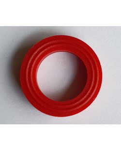 Ring nylon 18x12x3 mm rood