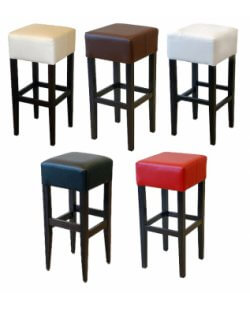 Barkruk demi wit, rood, zwart, bruin of beige