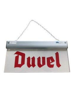 Duvel reclamebord met verlichting