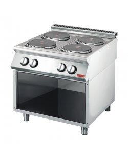 Gastro-M elektrische kookplaat met 4 vierkante kookplaten