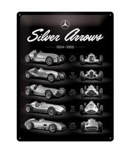 Mercedes silver arrows reclamebord