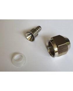 Aansluitset zeskant moer voor de 5.5 en 6 mm bierleiding