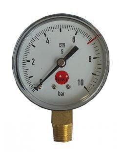 Drukmeter manometer 0-10 bar