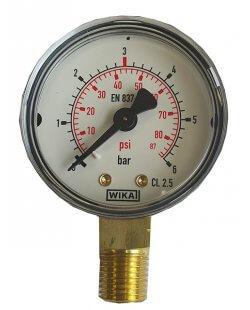 Drukmeter manometer 0-6 bar