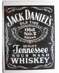 Jack Daniels black label metalen pubbord