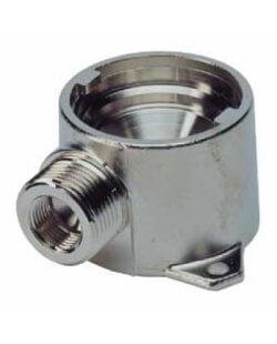 Doorspoel koppeling voor bajonet fustkoppeling