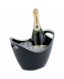 Champagne bowl zwart klein