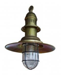 Showroommodel: Visserlamp antiek messing