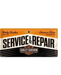 Harley-Davidson Service & Repair reclamebord