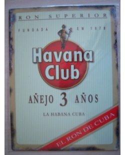 Havana club metalen pubbord
