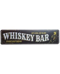 Whiskey bar finest old liquor reclamebord