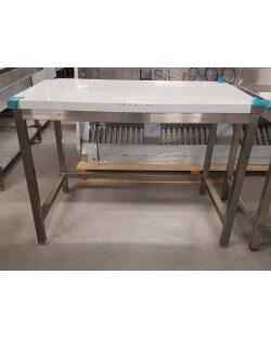 Magazijn opruiming:  RVS Werktafel zonder bodemschap afm. 1200x700x900mm
